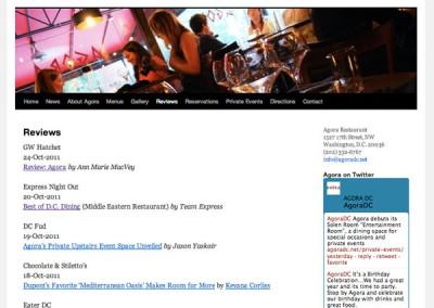 Agora Restaurant - Media reviews