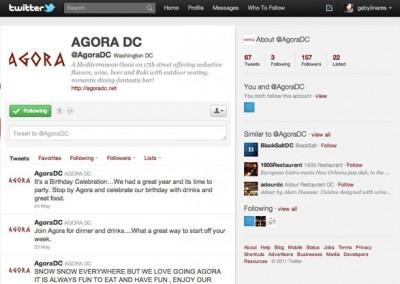 Agora Restaurant - Twitter
