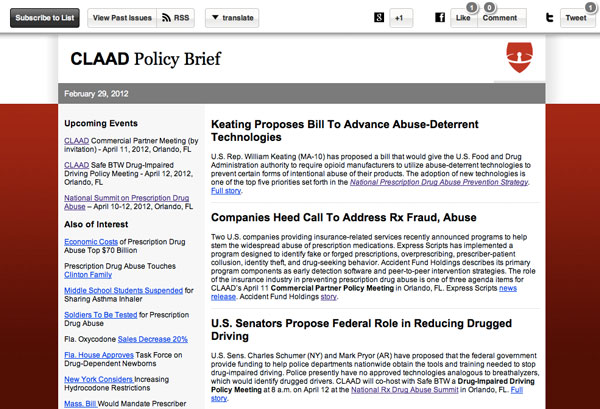 CLAAD - email archives using MailChimp
