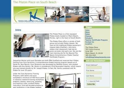 The Pilates Place - home page