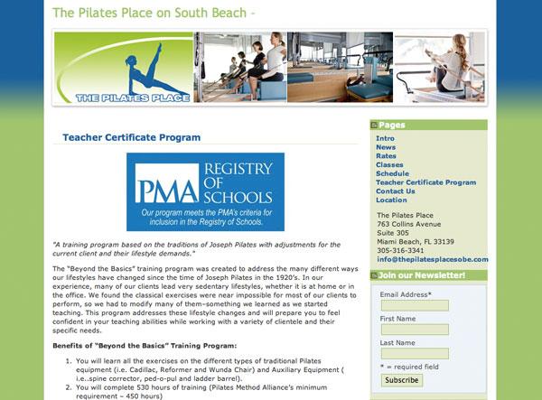 The Pilates Place on South Beach - Teacher training