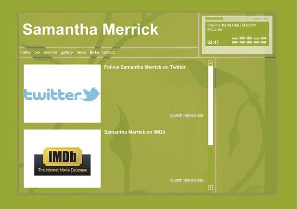 Samantha Merrick, Actor - Social Media